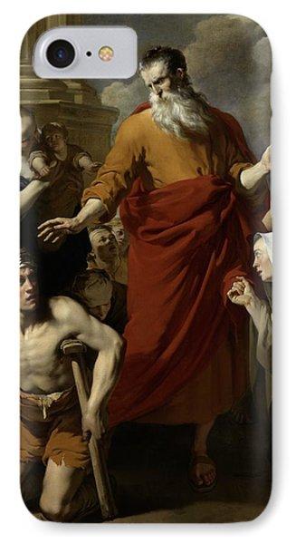 Saint Paul Healing The Cripple At Lystra Phone Case by Karel Dujardin