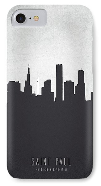 Saint Paul Minnesota Cityscape 19 IPhone Case by Aged Pixel