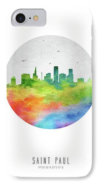 Saint Paul Skyline Usmnsp20 IPhone Case by Aged Pixel