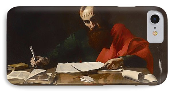 Saint Paul Writing His Epistles  IPhone Case by Mountain Dreams