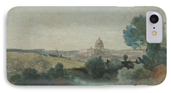 Saint Peter's Seen From The Campagna Phone Case by George Snr Inness