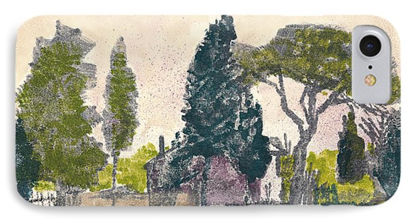 IPhone Case featuring the painting Saint Remy De Provence Landscape by Martin Stankewitz