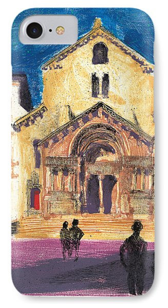 IPhone Case featuring the painting Saint Trophime Arles Provence by Martin Stankewitz