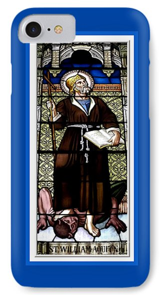 Saint William Of Aquitaine Stained Glass Window IPhone Case by Rose Santuci-Sofranko