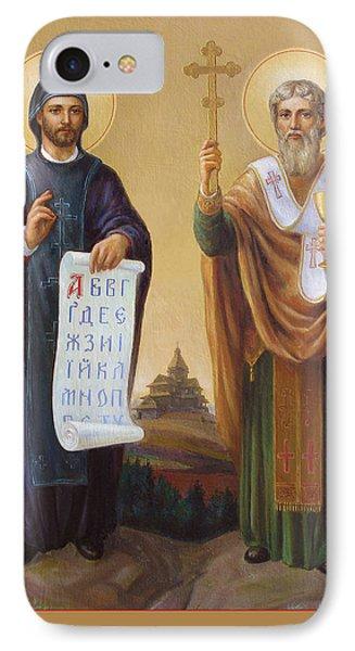 Saints Cyril And Methodius - Missionaries To The Slavs Phone Case by Svitozar Nenyuk
