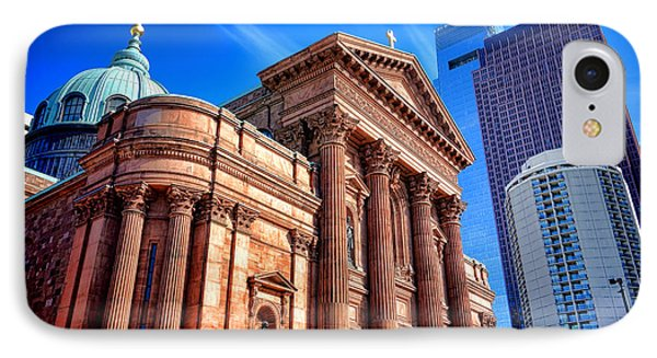 Saints Peter And Paul In Philadelphia   IPhone Case by Olivier Le Queinec