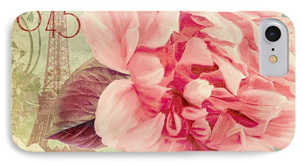 Saisons Fleurs Pink IPhone Case by Mindy Sommers
