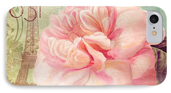 Saisons Pink Peony Rose IPhone Case by Mindy Sommers