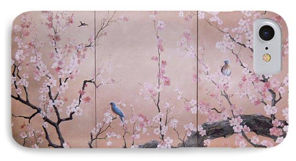 Sakura - Cherry Trees In Bloom IPhone Case by Sorin Apostolescu