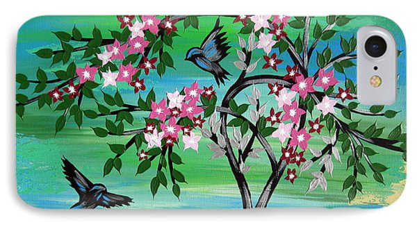Sakura Freshness IPhone Case by Cathy Jacobs