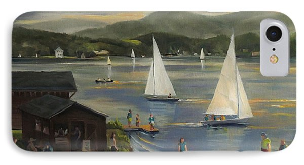 Sailing At Lake Morey Vermont IPhone Case by Nancy Griswold