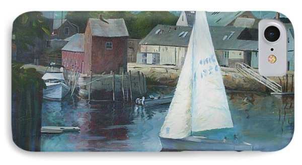 Saling In Rockport Ma Phone Case by Claire Gagnon