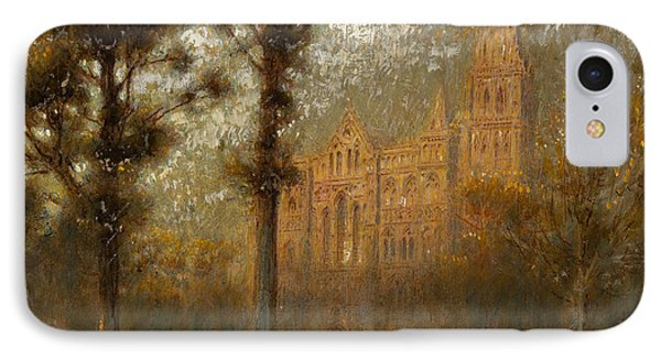 Salisbury Cathedral IPhone Case by Albert Goodwin
