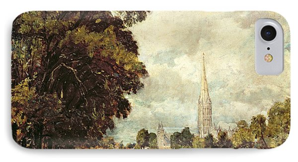 Salisbury Cathedral From Lower Marsh Close Phone Case by John Constable