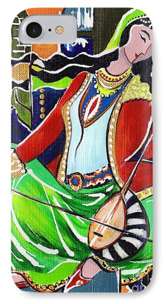 Sallaneh And Its Player Phone Case by Elisabeta Hermann