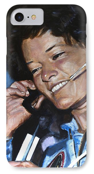 Sally Ride IPhone Case by Simon Kregar