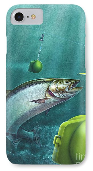 Salmon Downriggers IPhone Case by Jon Wright