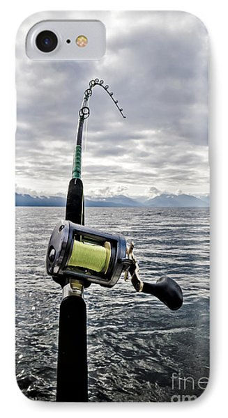 Salmon Fishing Rod Phone Case by Darcy Michaelchuk