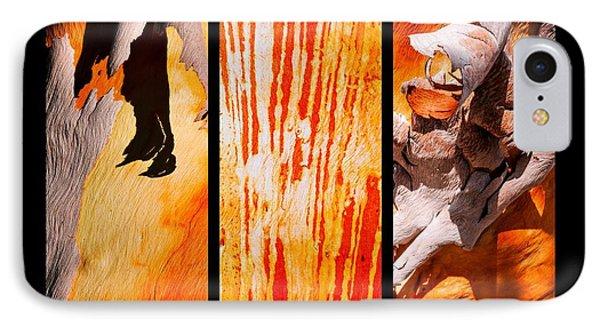 Salmon Gum Tree Triptych IPhone Case