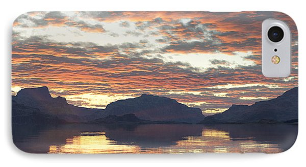 IPhone Case featuring the digital art Salmon Lake Sunset by Mark Greenberg