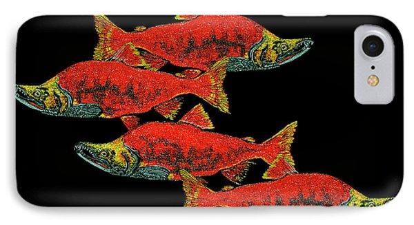 Salmon Season IPhone Case by Debbie Chamberlin