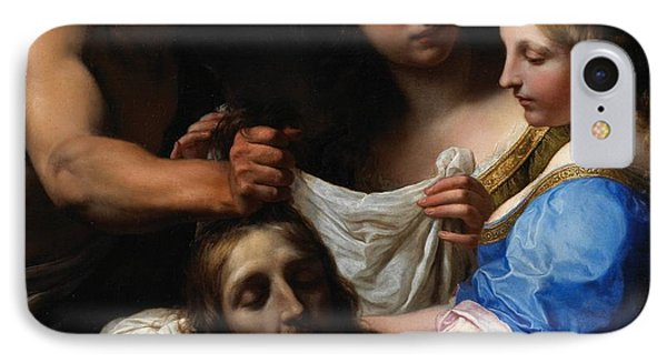 Salome With The Head Of Saint John The Baptist IPhone Case by Onorio Marinari