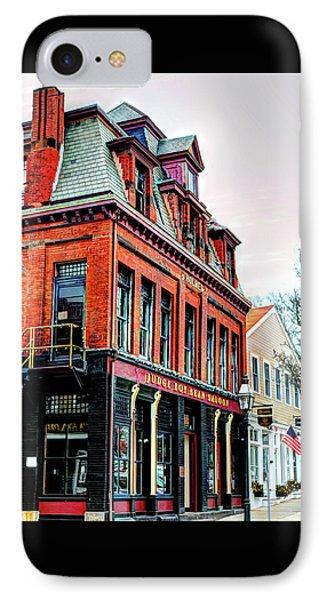 IPhone Case featuring the photograph Saloon Bristol Ri by Tom Prendergast
