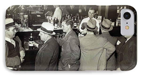 Saloon Opens - Prohibition Ends 1933 IPhone Case by Daniel Hagerman