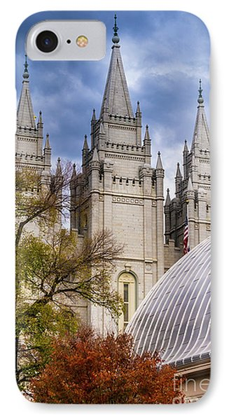 IPhone Case featuring the photograph Salt Lake Lds Temple And Tabernacle - Utah by Gary Whitton