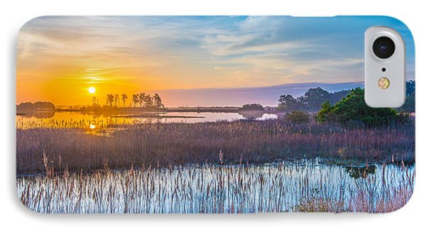 Salt Marsh Sunrise II IPhone Case by Steven Ainsworth