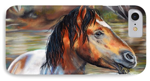 IPhone Case featuring the pastel Salt River Tango by Karen Kennedy Chatham