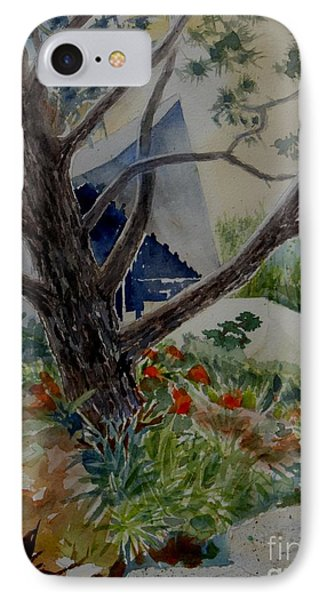 Saltman House And Garden I IPhone Case by Ralph Kingery