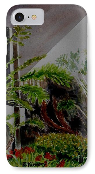 Saltman House And Garden II IPhone Case by Ralph Kingery