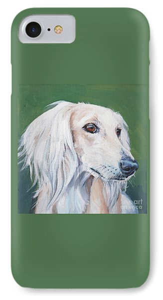 IPhone Case featuring the painting Saluki Sighthound by Lee Ann Shepard