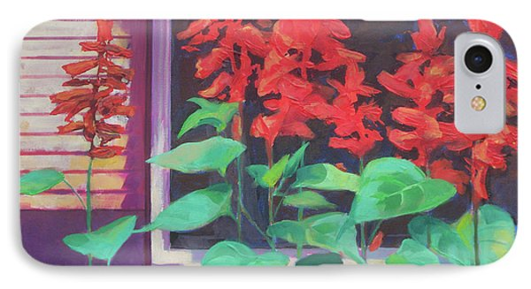 Salvia In The Windowbox Phone Case by Carol Strickland