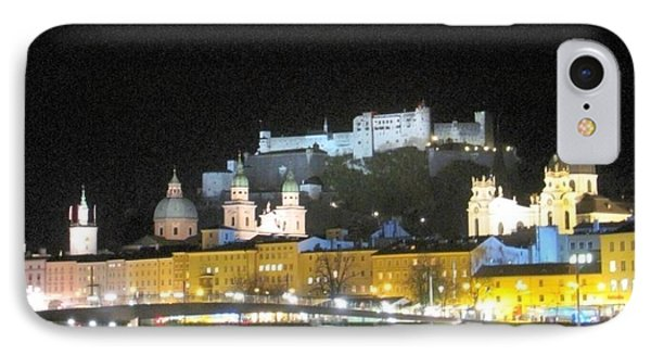 Salzburg At Night IPhone Case by Betty Buller Whitehead