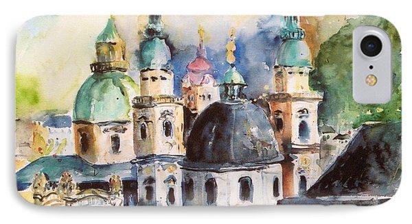 Salzburg Austria IPhone Case by Alexandra Maria Ethlyn Cheshire