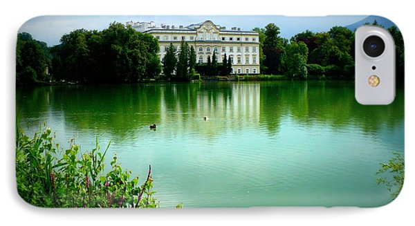 Salzburg Home With Lake Phone Case by Carol Groenen