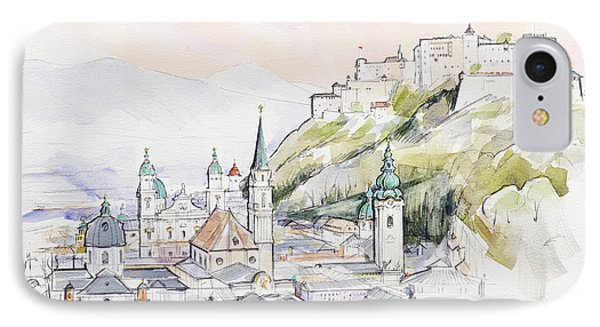 Salzburg Sunrise  IPhone Case by Clive Metcalfe