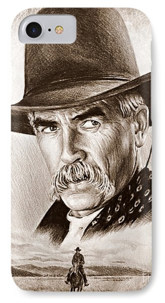 Sam Elliot The Lone Rider IPhone Case by Andrew Read