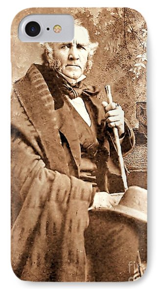 Sam Houston IPhone Case by Pg Reproductions