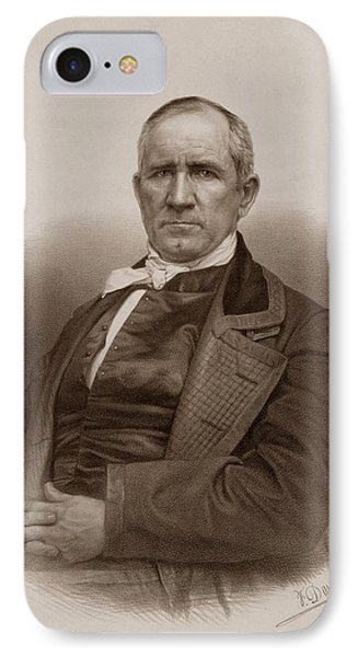 Sam Houston Portrait IPhone Case by War Is Hell Store