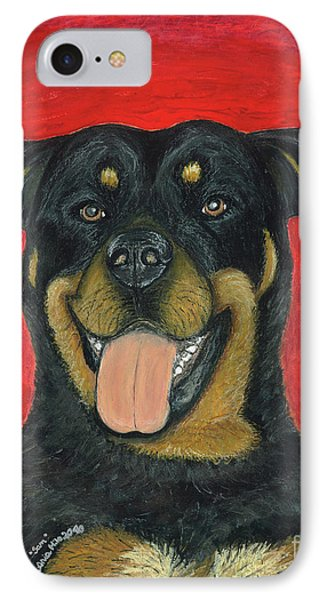 Sam The Rottewieler IPhone Case by Ania M Milo