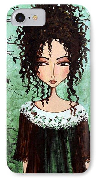 Samantha's Chocolate Tree Phone Case by Debbie Horton