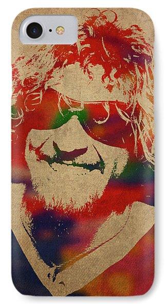 Van Halen iPhone 7 Case - Sammy Hagar Van Halen Watercolor Portrait by Design Turnpike