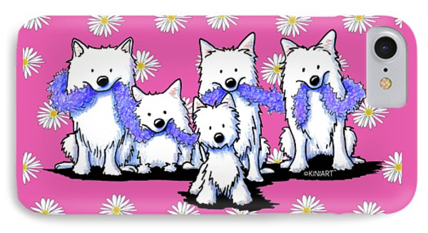 Sams And Westie Phone Case by Kim Niles
