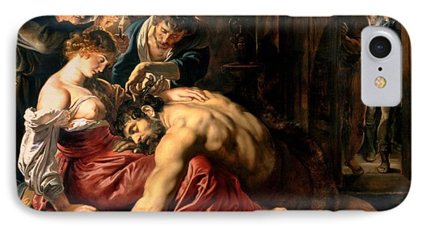 Samson And Delilah Phone Case by Peter Paul Rubens