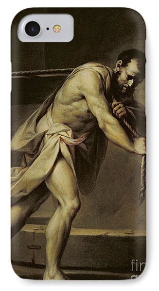 Samson In The Treadmill IPhone Case by Giacomo Zampa