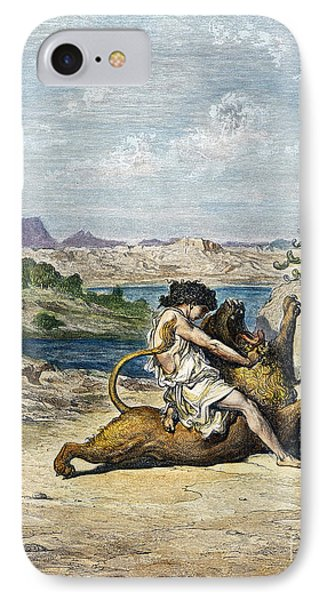 Samson Slaying A Lion IPhone Case by Granger