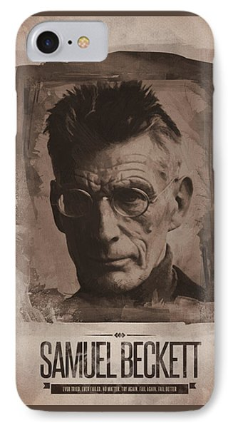 Samuel Beckett 01 IPhone Case by Afterdarkness